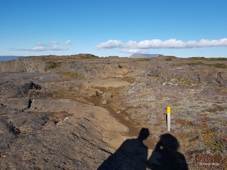 Rocky path on top of the canyon wall - did you imagine Iceland like this
