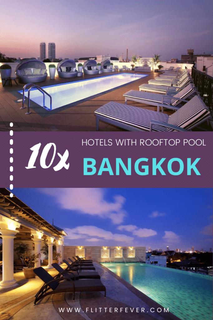 Bangkok rooftop pool hotels Khao San Road Pinterest