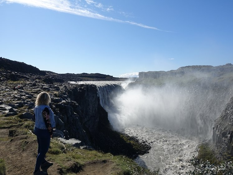 Dettifoss waterfall from a distance