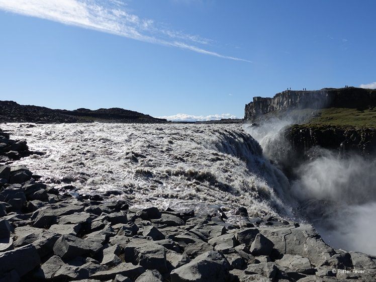 Dettifoss waterfall up close