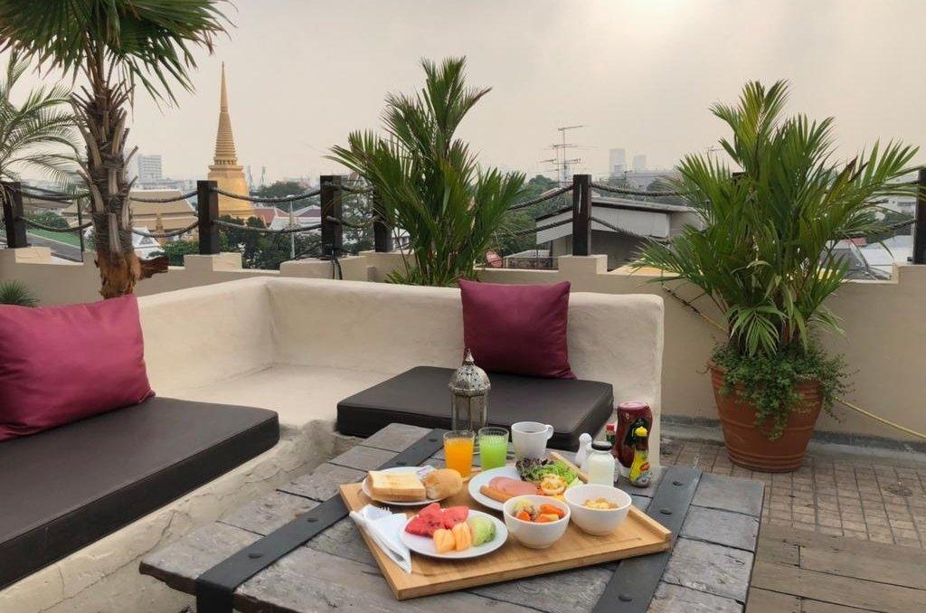 Dewan Bangkok hotel breakfast with a view
