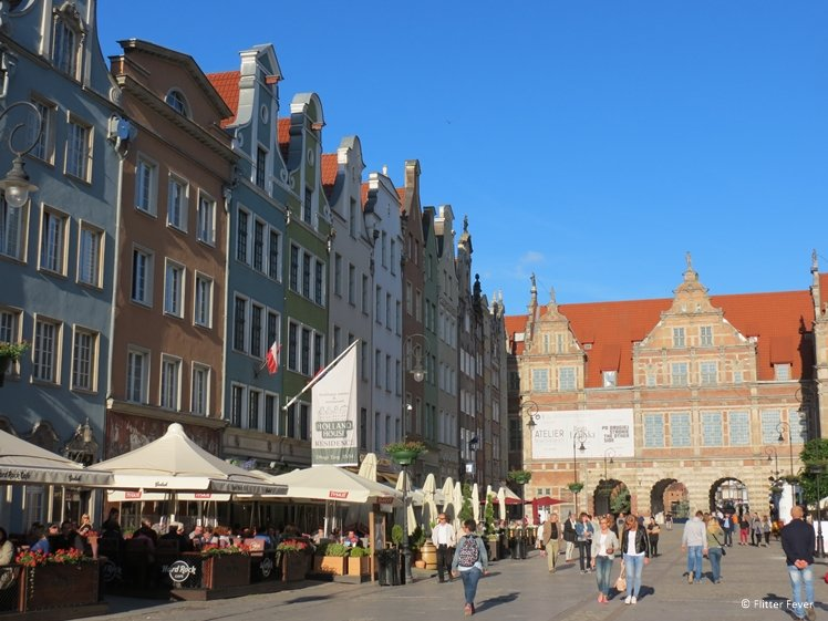Dluga Street and Green Gate in Gdansk