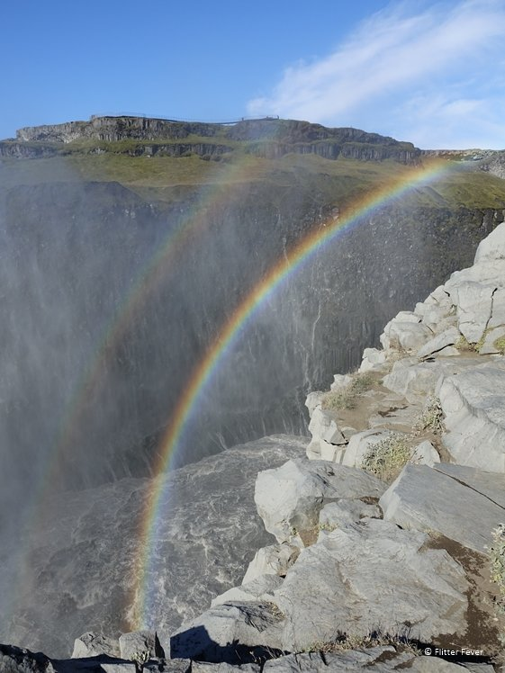 Double rainbow at Dettifoss