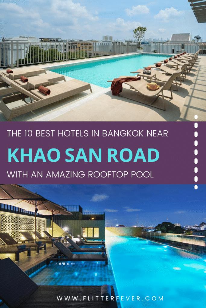 Khao San Road rooftop pool hotels