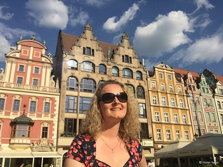Rynek Wroclaw on a bright sunny day