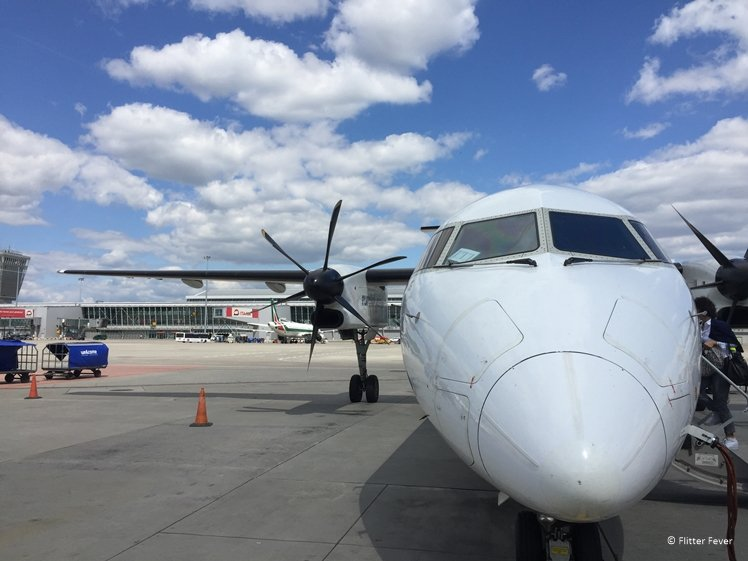 Small aircraft for a domestic flight to Gdansk Poland
