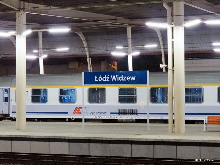 Lodz Widzew train station train track IC train