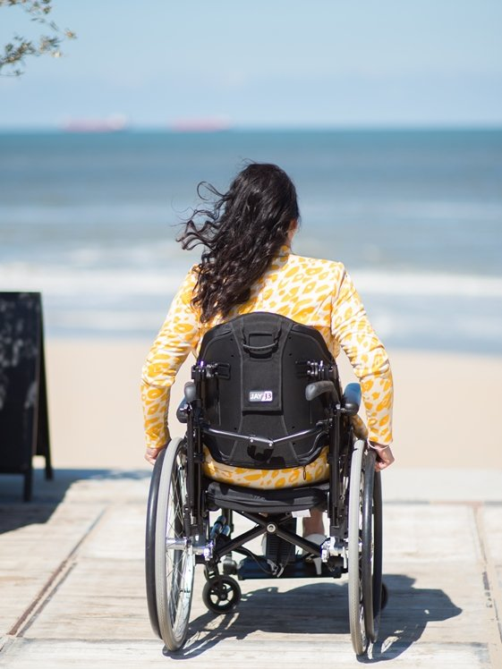 Trip to the sea side by wheelchair