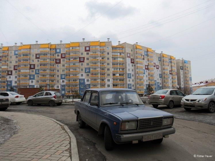 Lada in residential area of Krasnoyarsk
