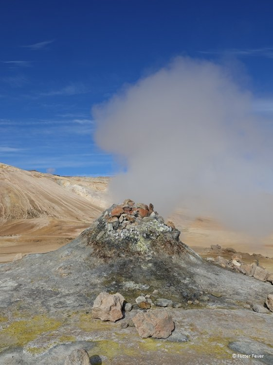 Smoking fumarole at Hverir Namafjall