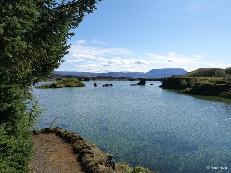 The crystal clear water of Lake Myvatn