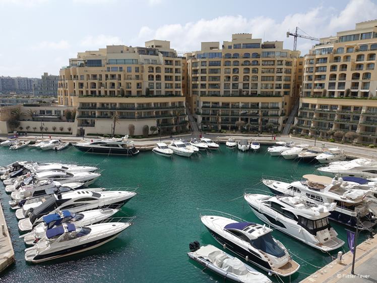 Yachts in St. Julians Malta