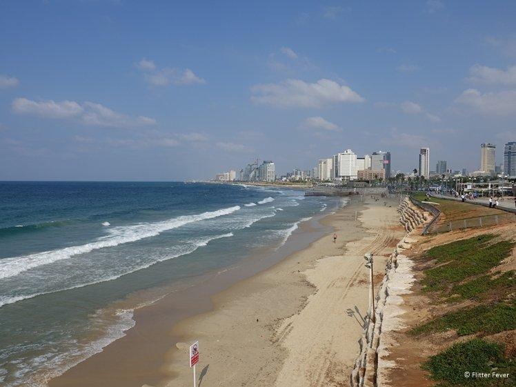 A decent swell at Charles Clore Beach Tel Aviv