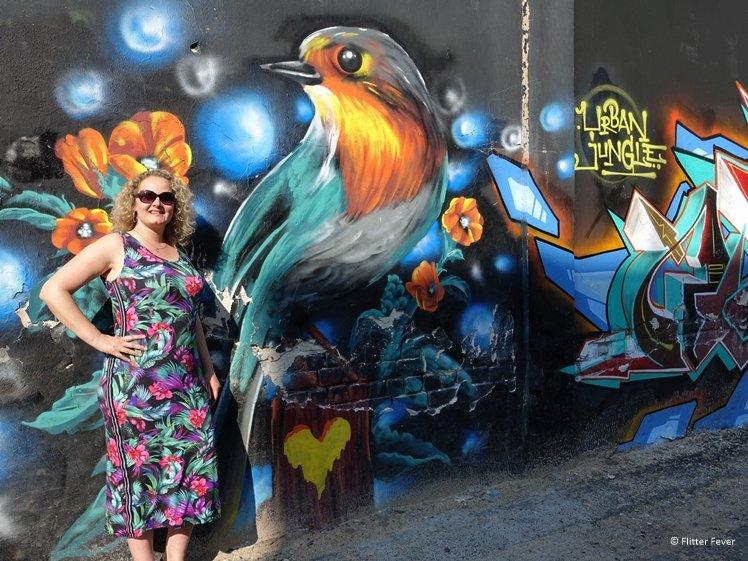 Bird street art in Tel Aviv brought to you by Flitter Fever