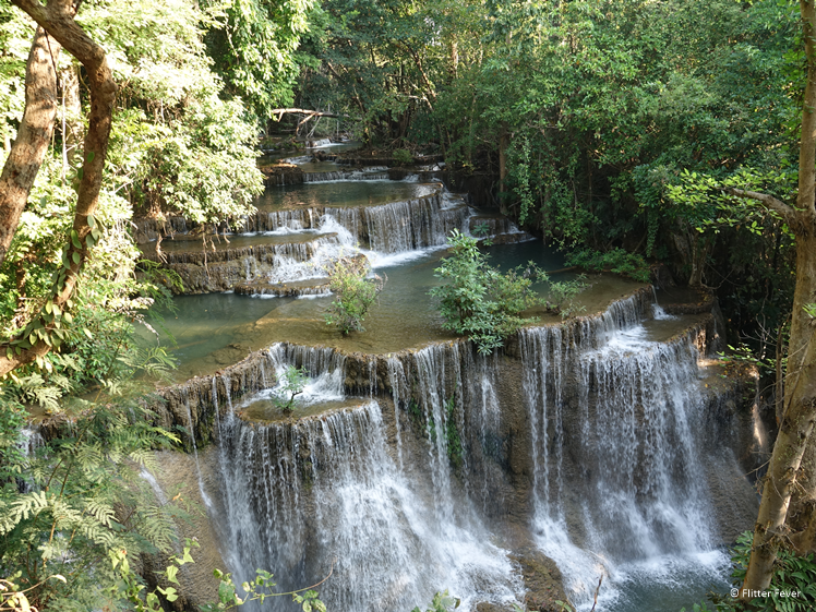 Chatkaew waterfall at Huay Mae Khamin Thailand