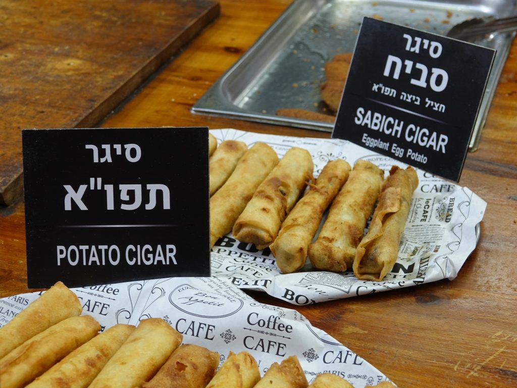 Cigar snacks at Carmel Market