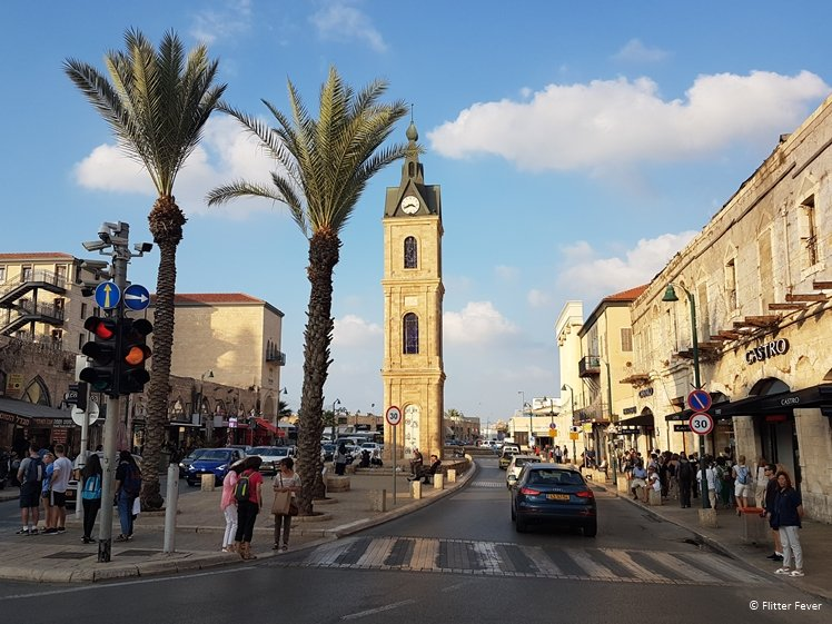 Clock Tower at Clock Square in Jaffa