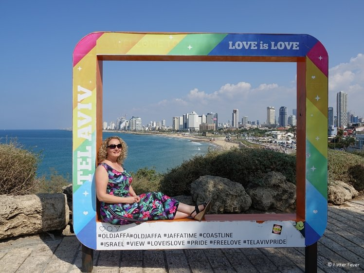 Coast line view on Tel Aviv from Old Jaffa - Love is Love