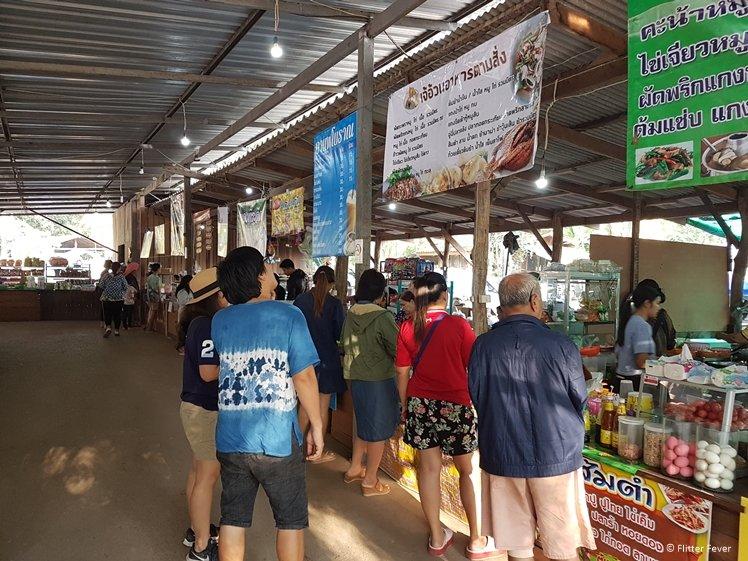 Food market at Huay Mae Khamin Waterfalls