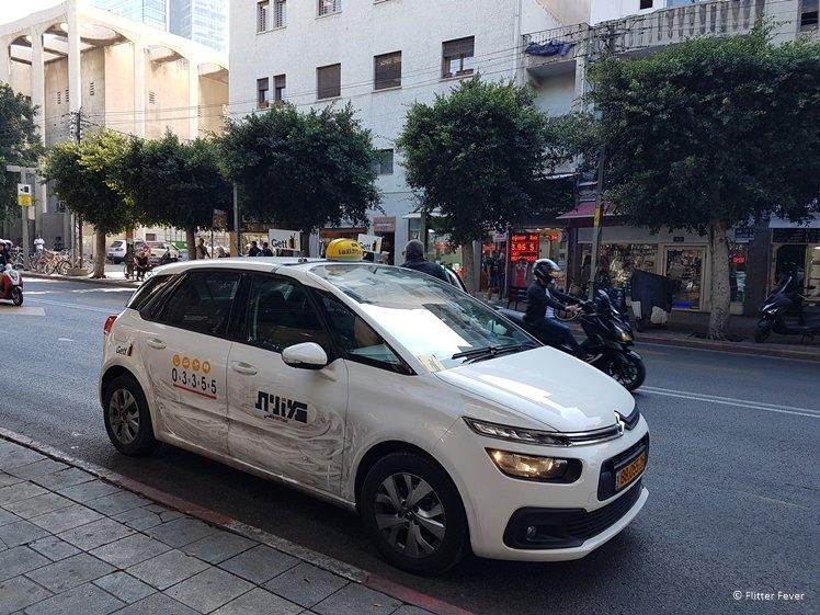 Gett Taxi at Allenby Street Tel Aviv
