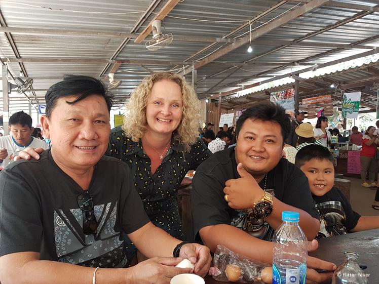 Making friends at Huay Mae Khamin Waterfalls