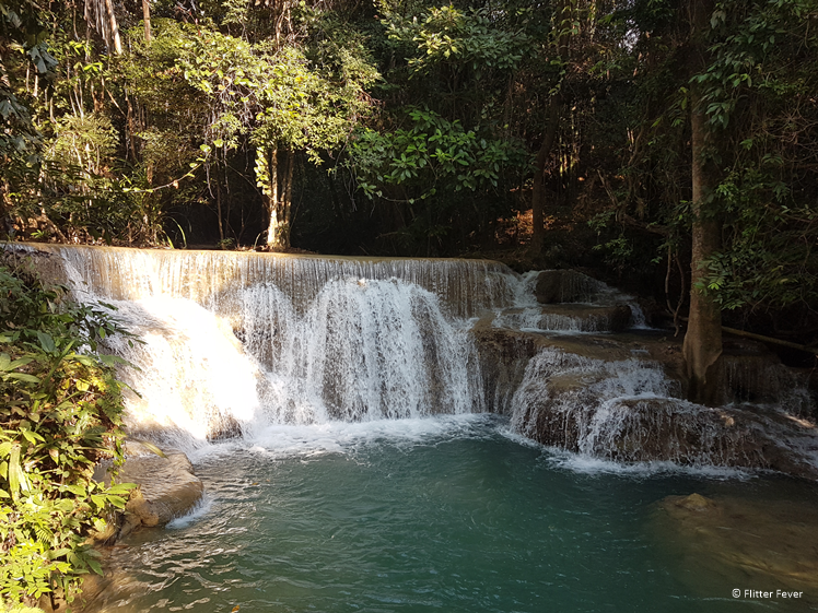 One of the first waterfalls on the right hand-side Huay Mae Khamin Waterfall
