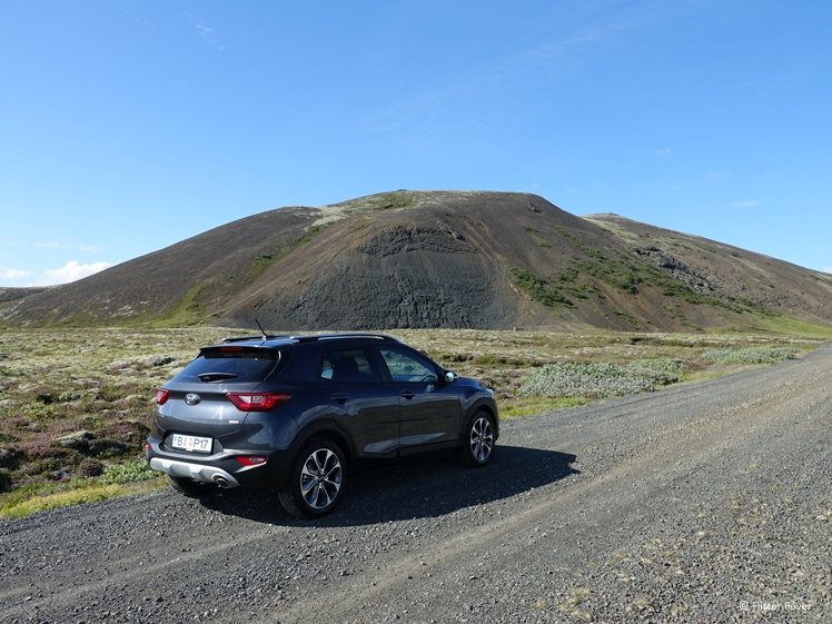 Our rental car on Iceland