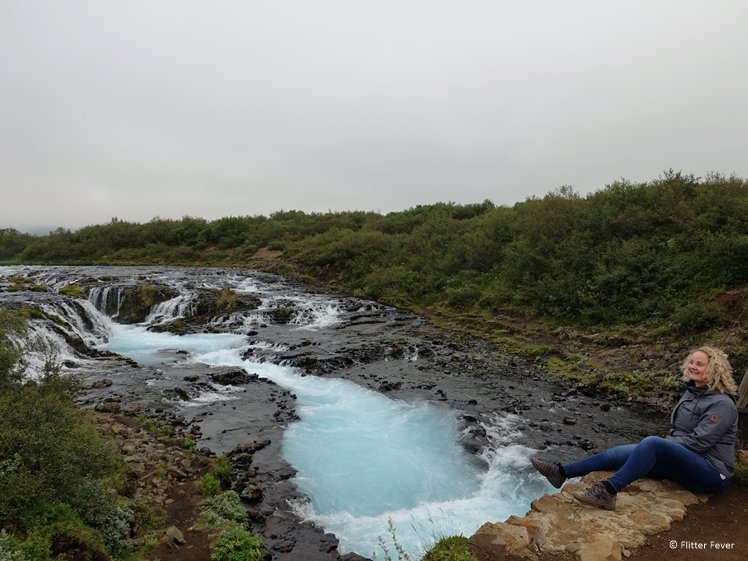 So happy we could visit Iceland - Bruarfoss Waterfall