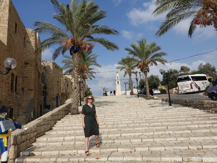 Steps at Kikar Kedumim Street in Jaffa Tel Aviv