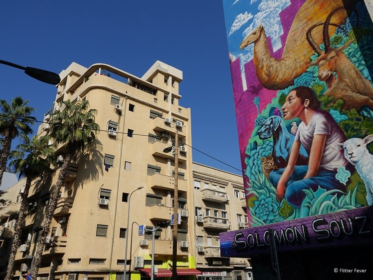 Street scene in Tel Aviv