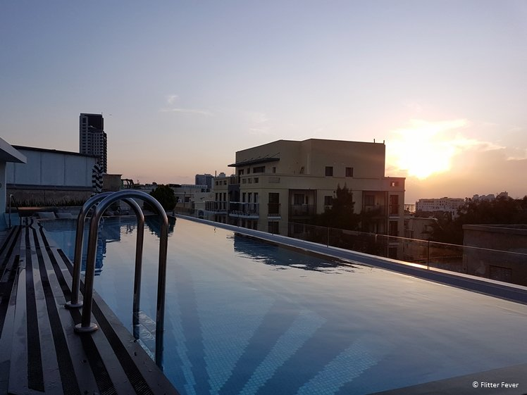 Sunset view from the Poli House roof top pool