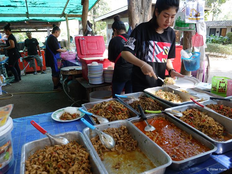 Thai food at Huay Mae Khamin Waterfalls