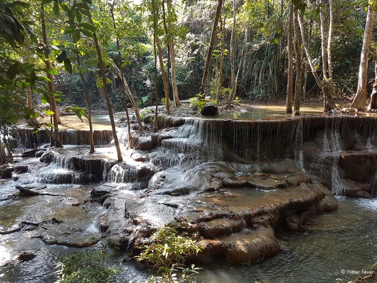 The beauty of Huay Mae Khamin Waterfalls