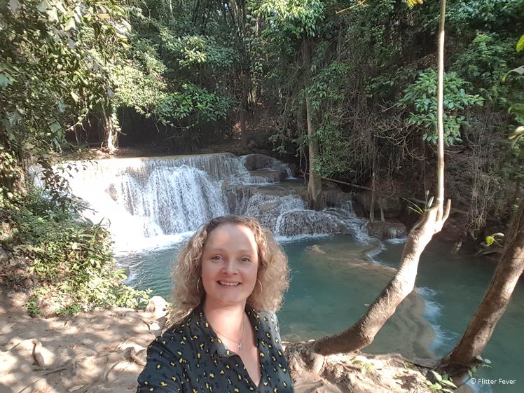 Walking the east side of the Huay Mae Khamin Waterfall