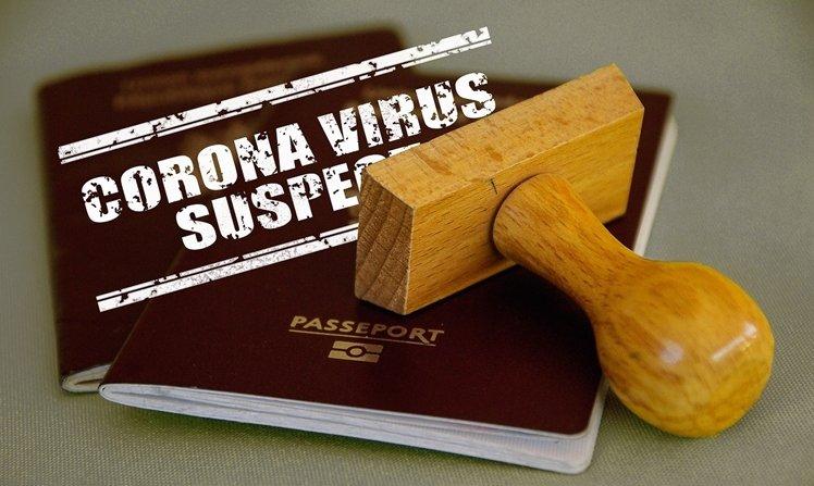 Corona virus suspect passport