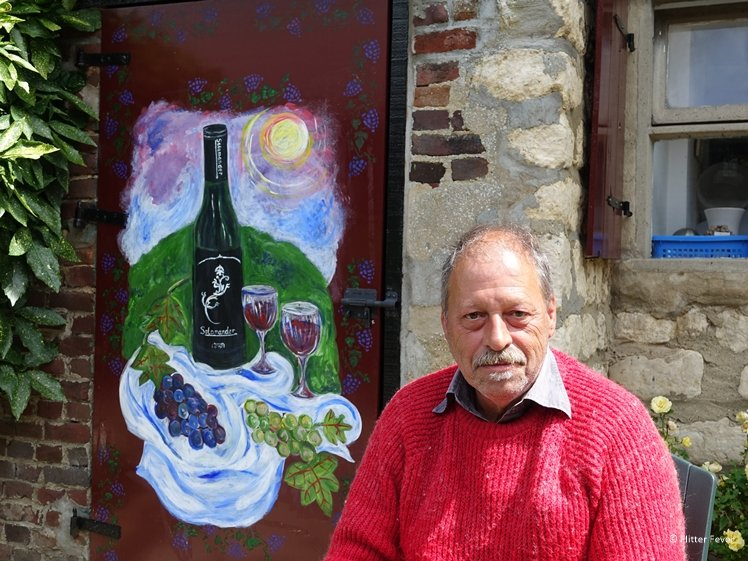 Wine farmer John Cox of Domaine Salamander in South Limburg The Netherlands