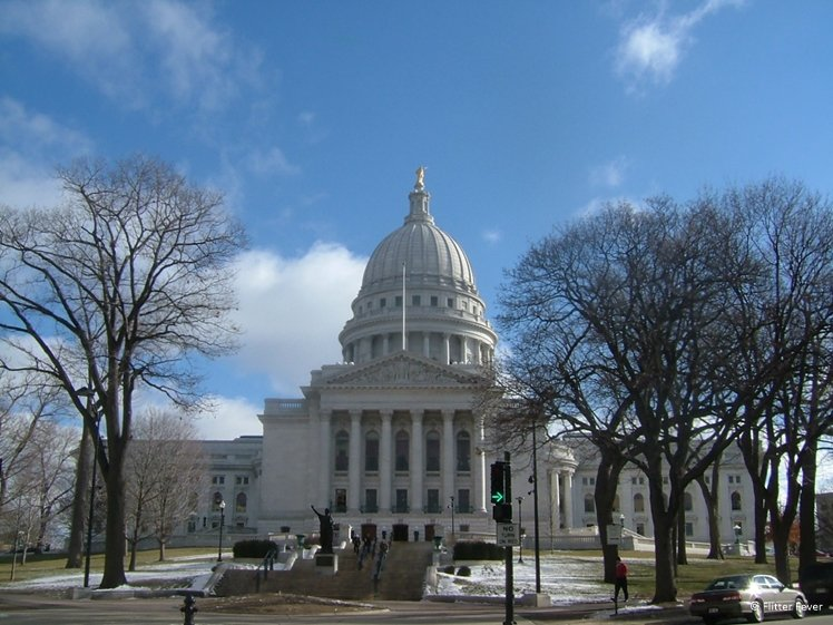 Wisconsin State Capitol in Madison, WI, USA