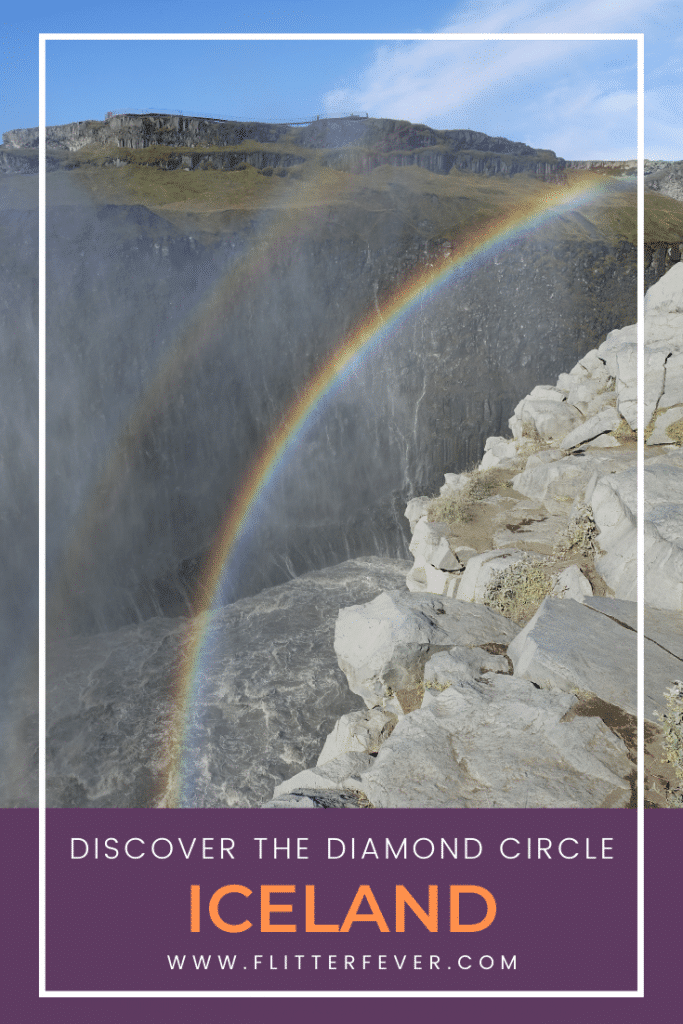 Diamond Circle Pinterest rainbow Dettifoss