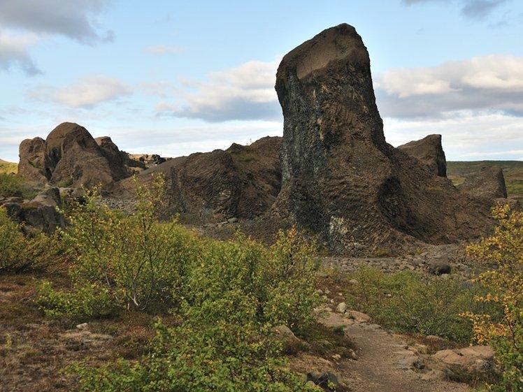 Hljóðaklettar Diamond Circle Iceland