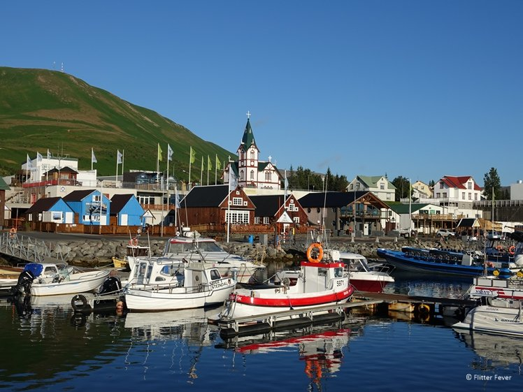 Husavik haven IJsland