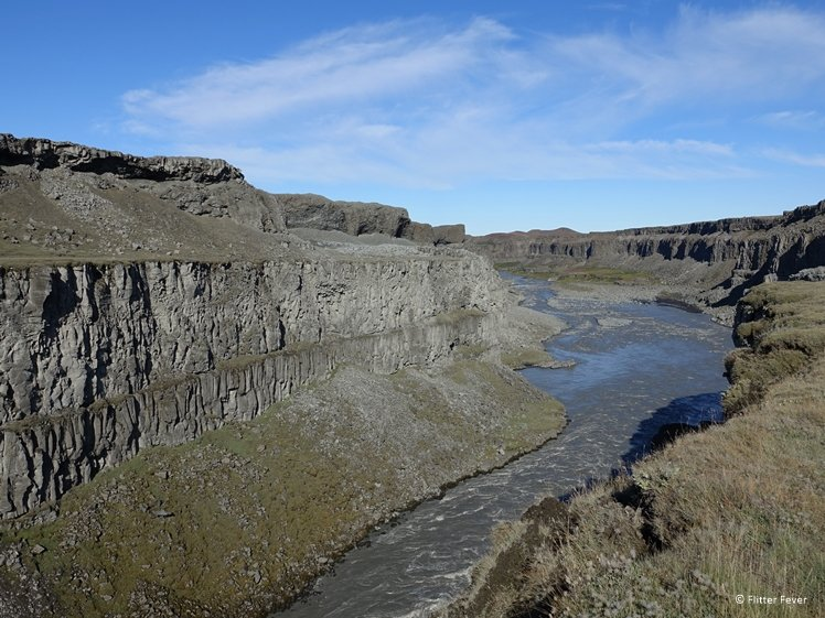 Jökulsárgljúfur canyon and river are part of the Diamond Circle of Iceland