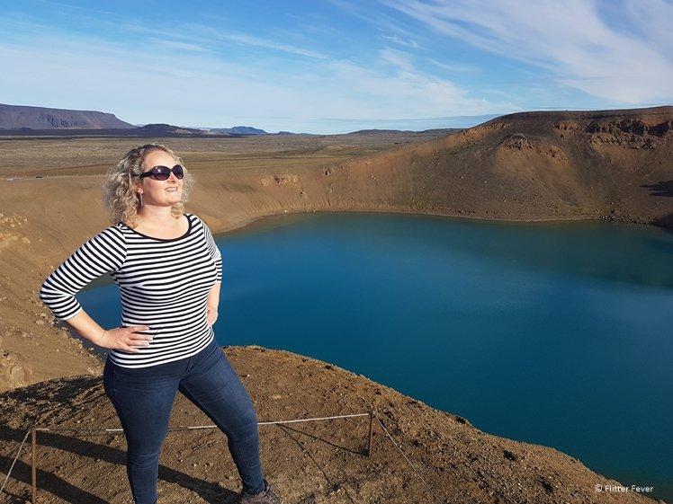 Viti kratermeer nabij het Myvatn Meer Diamond Circle