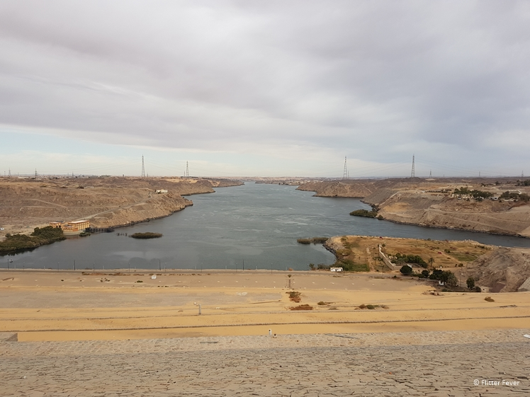 Aswan High Dam river Nile side