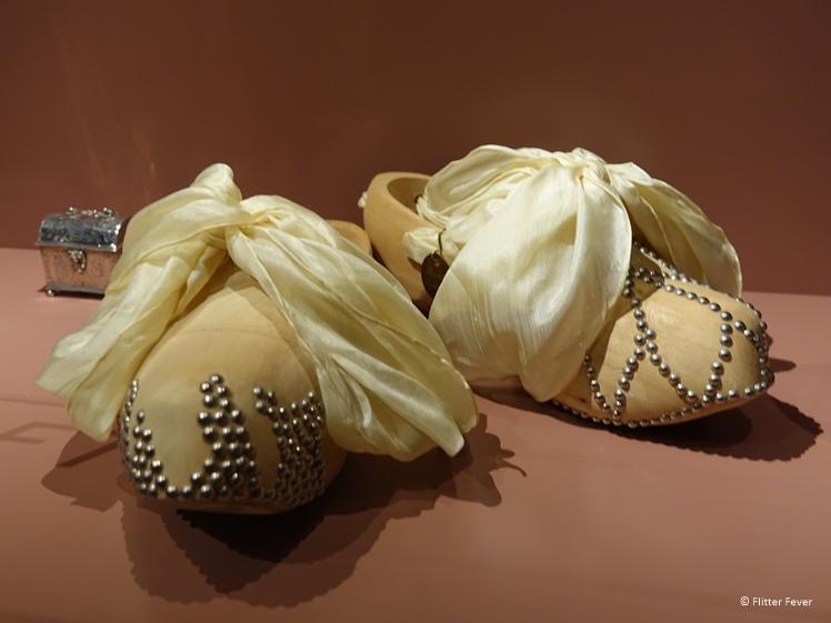 Bridal clogs in the Zuiderzeemuseum Enkhuizen