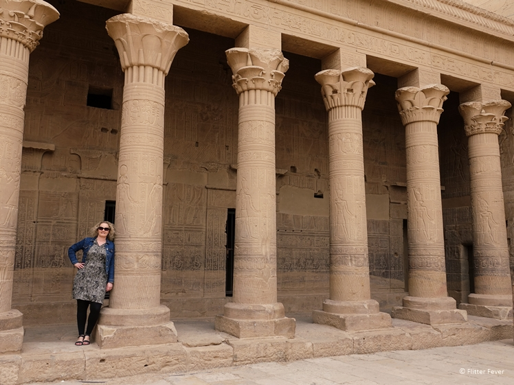 Main court pillars of Philae Temples