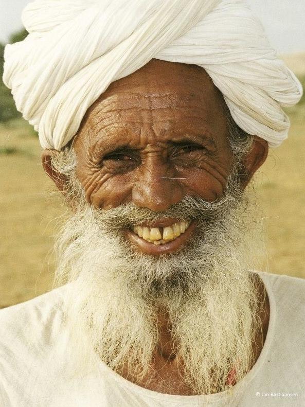 Man in India door Jan Bastiaansen