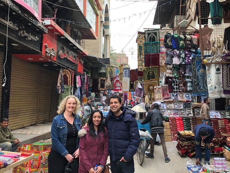 Met bekenden afgesproken in Cairo