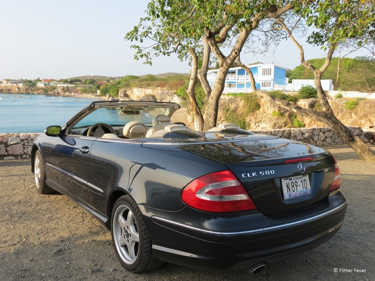 Exploring the island with a Mercedes Cabrio