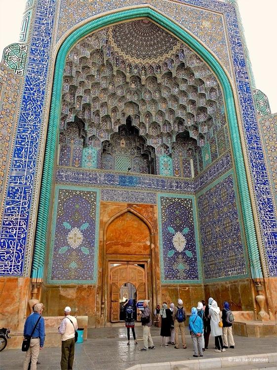 Mooie moskee entree in Iran door Jan Bastiaansen