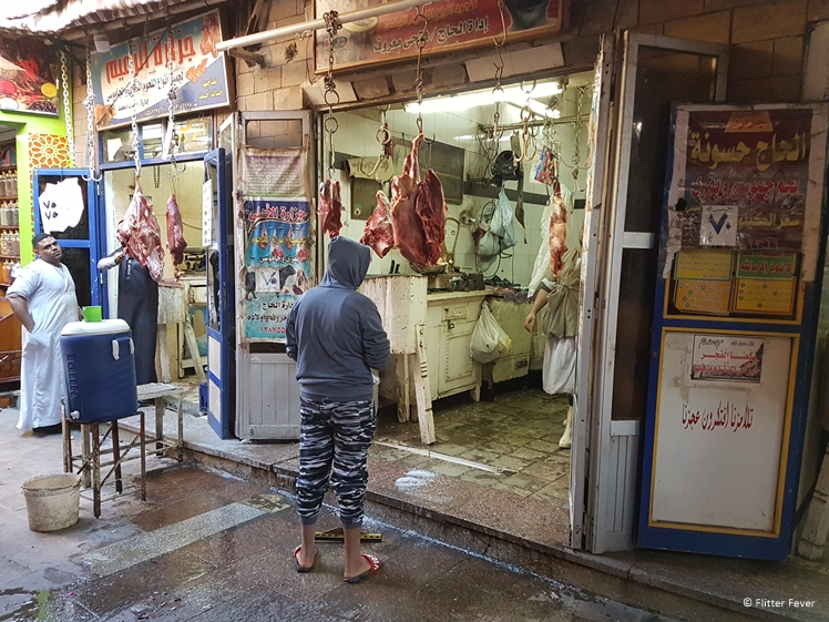 One of the butchers at Aswan Market